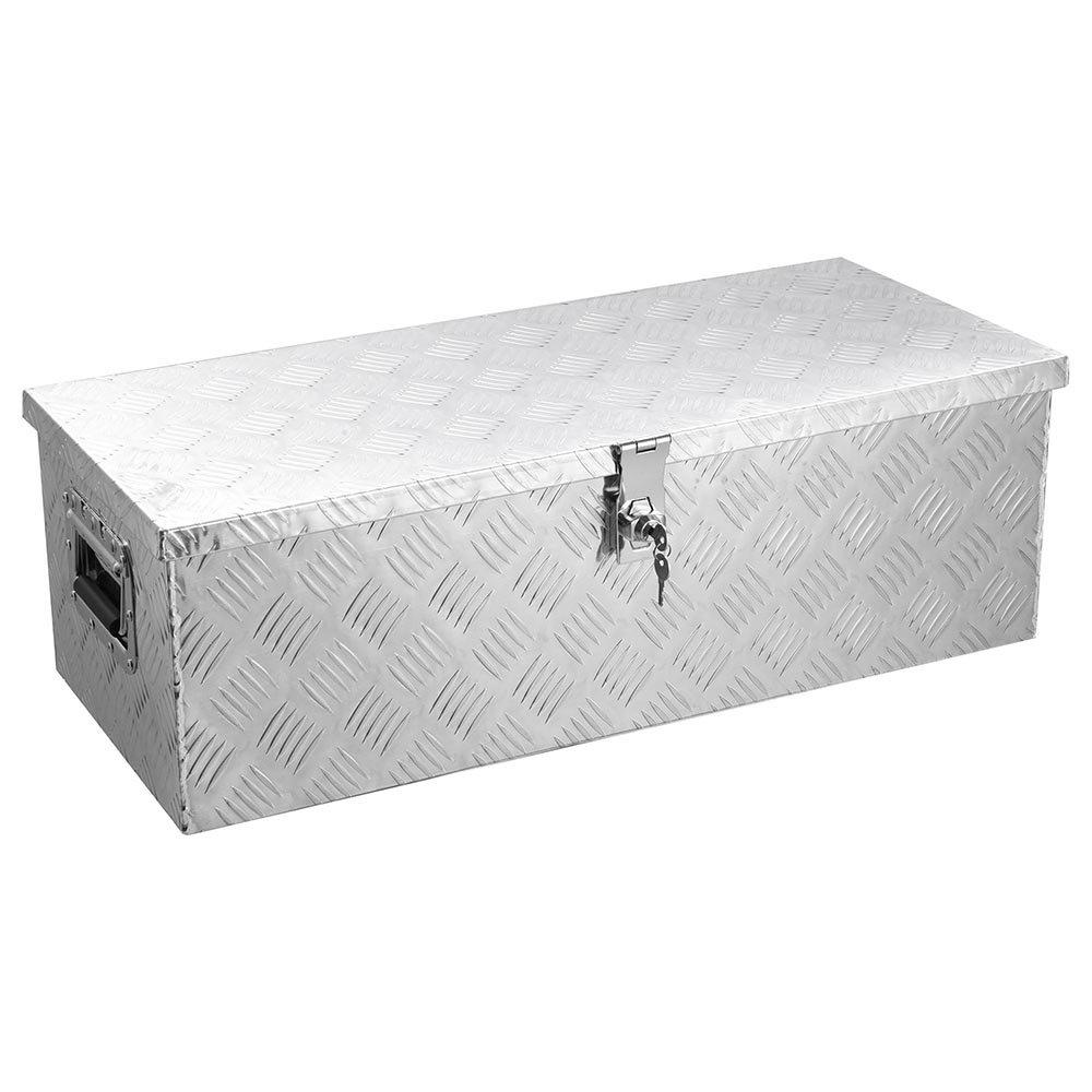 Yescom 30''x13'' Aluminum Underbody Tool Box Pickup ATV Truck Camper Trailer Storage w/Lock