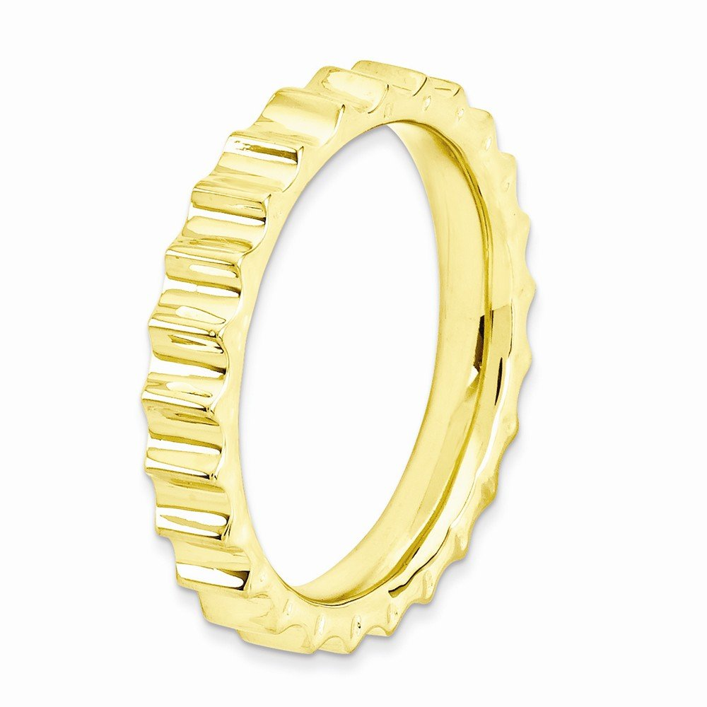 3.3mm Jewel Tie Sterling Silver Stackable Expressions Gold-Toned Ring