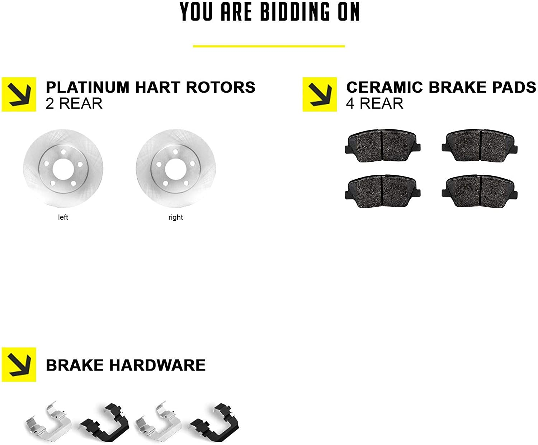 RVR Fits Mitsubishi ASX Outlander Sport Rear Blank Brake Rotors+Ceramic Pads