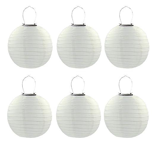 Amazon.com: Juego de 6 farolillos de luz LED solares chinos ...