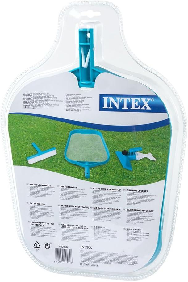 Intex 29056 - Kit de limpieza básico recoge hojas, cepillo y ...