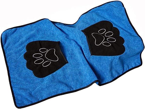 YWARX Toallas de Baño para Mascotas, Toalla Playa para Perros Gatos Microfibra Súper Suave 33.5 X20in,Blue: Amazon.es: Hogar