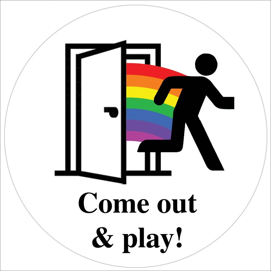 Gay Pride Sticker Come Out Come Out