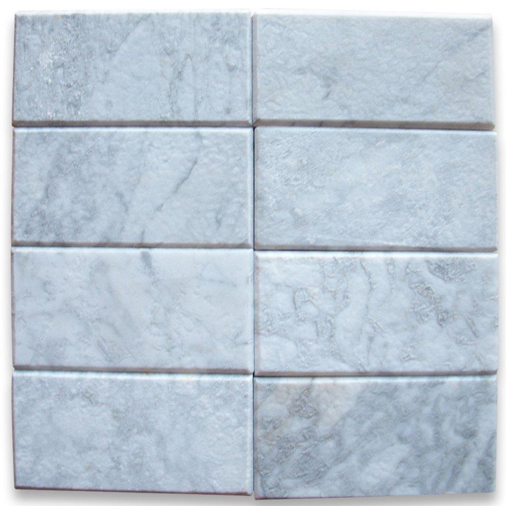 Amazon.com: Carrara White Italian Carrera Marble Subway Tile 3 x 6 ...