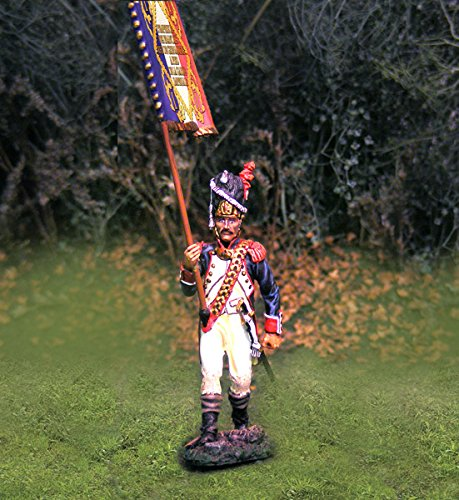 Napoleonic Toy Soldiers French Infantry Old Guard Flag Bearer Collectors Showcase Toy Soldiers Painted Metal Figure CS00700 Britains King Country Type