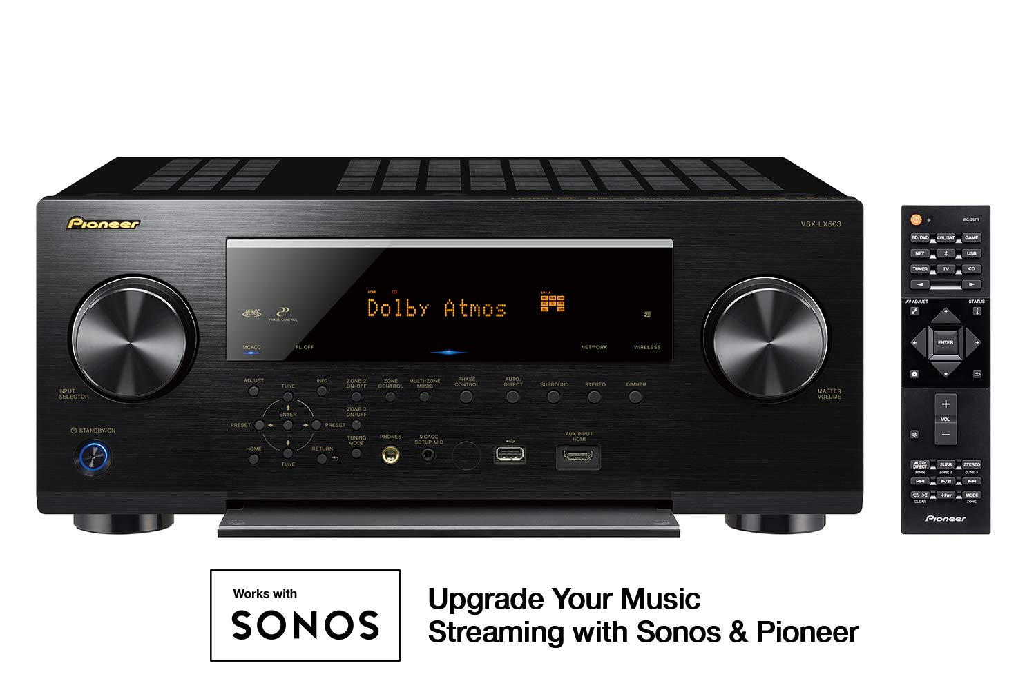 Amazon.com: Pioneer VSX-LX503 9.2 Channel 4k UltraHD Network A/V Receiver  Black: Electronics