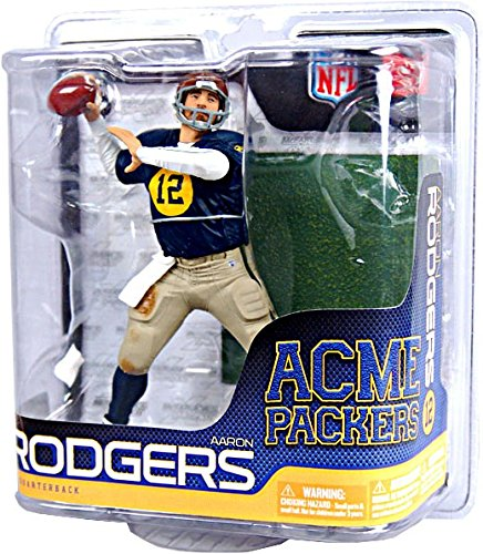 Amazon.com  NFL Green Bay Packers McFarlane 2011 Series 27 Aaron Rodgers  Throwback Action Figure  Toys   Games 42444ea3d