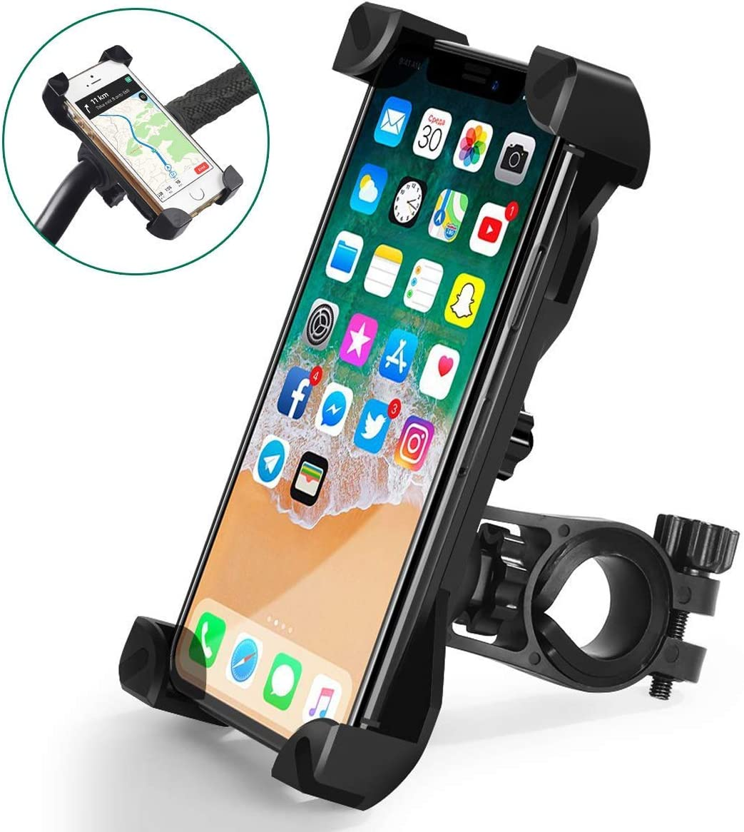 Bike Phone Holder for iPhone Android GPS Other Devices Black Bike Phone Mount 360/°Rotation