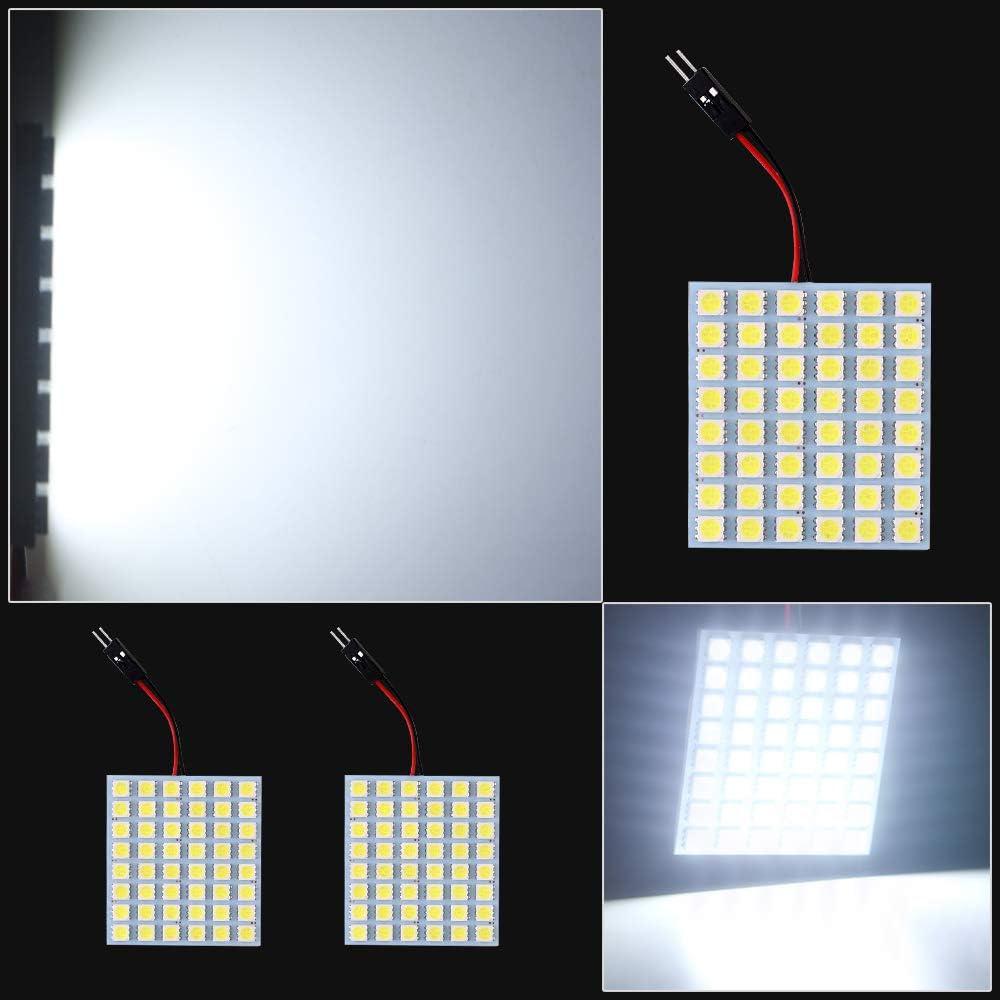 DJYJD Blanco del xen/ón 48-SMD 5050 Panel de luz LED para el Coche//Dome//Pie Zona del Tronco Luz//Cargo