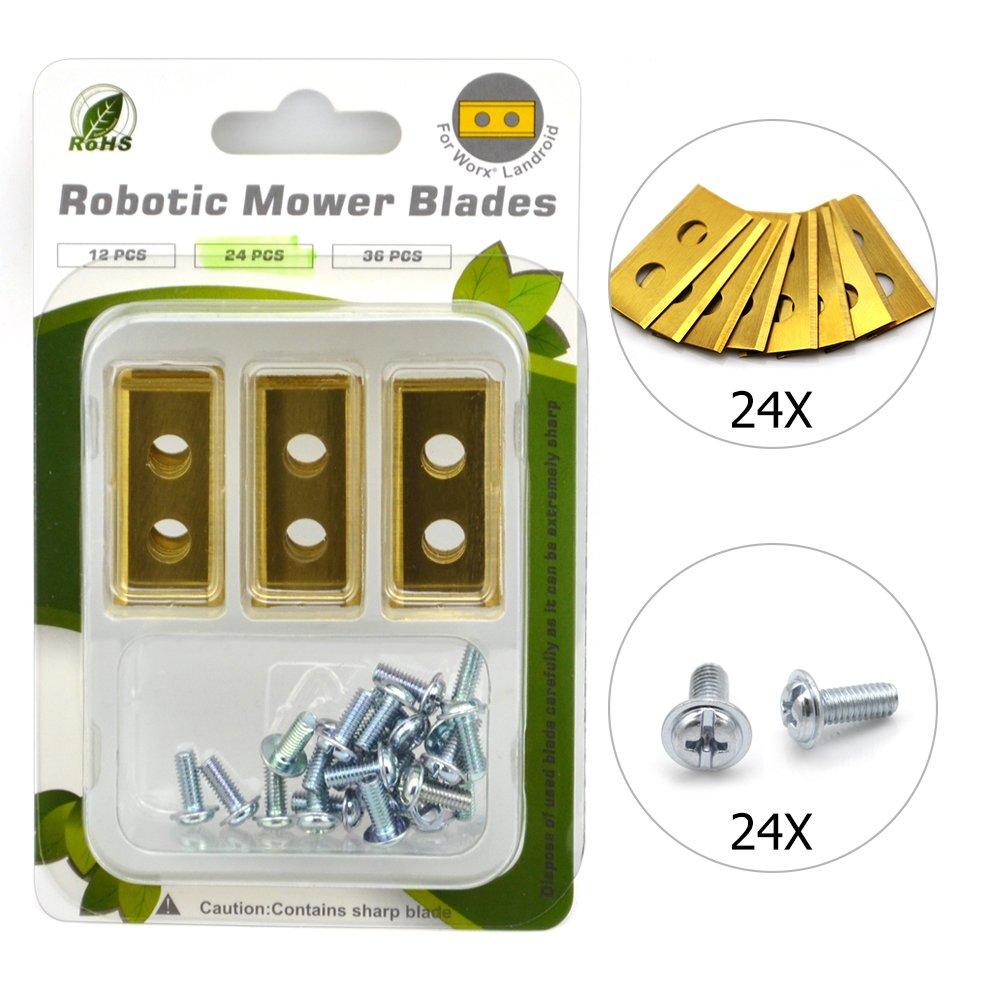 24 cuchillas de repuesto Titan para robot cortacésped Worx ...