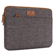 "DOMISO 11 Inch Classic Portable Canvas Laptop Sleeve Case Computer Bag for Apple MacBook Air / 12.3"" Microsoft Surface Pro 4 / 11.6"" Notebook, Brown"