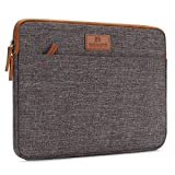 DOMISO 15.6 Inch Laptop Sleeve Canvas Case Tablet Bag Protect Computer Pouch Skin Cover for Lenovo / HP / Acer / ASUS / DELL , Brown