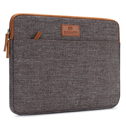 DOMISO 13 Inch Laptop Sleeve Canvas Case Tablet Bag Protect Computer Pouch Skin Cover for 13 MacBook Pro Retina Display / 13 MacBook Air / 12.9 iPad Pro / 13 MacBook Pro , Brown
