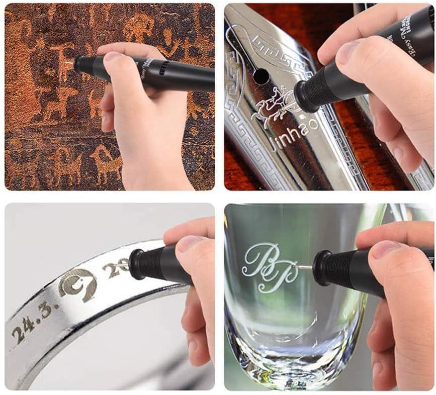 Electric Engraving Machine Mini DIY Etcher Engraving Carve Machine Tool Kit with Diamond Tip Bit to Engrave on Metal Glass Ceramic Plastic Wood Jewelry Stone