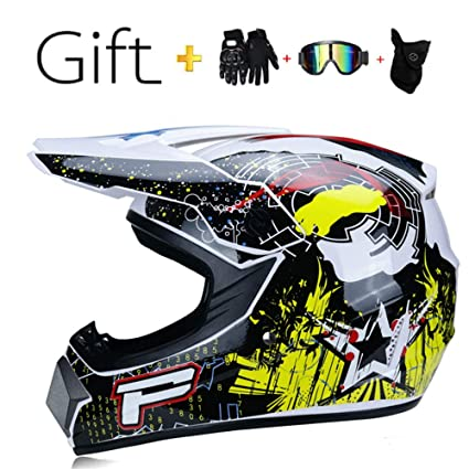 ,L S, M, L, XL Motocross Helmets/Childrens or Adult Motorcycle Off-Road Helmet ATV Scooter Downhill MX Motorcycle Helmet D.O.T Certification/Send Goggles Gloves mask