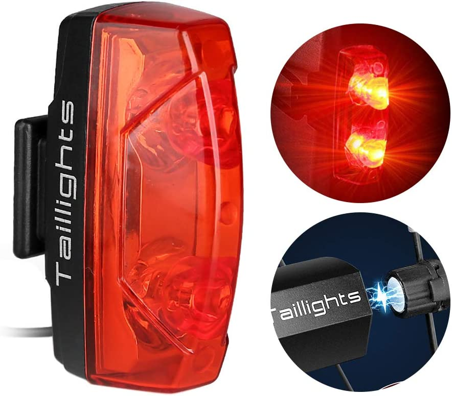 ACECYCLE Bike Tail Light, Magnetic Power Charge Free Auto On/Off Rear Bike Light, Super Bright Red LED Bicycle Taillight, IPX6 Waterproof , Self-generating Electricity Rear Lamp Safety for Cycling