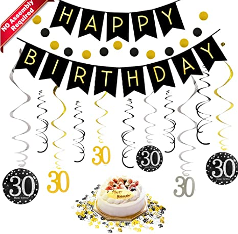Prime Amazon Com 30Th Birthday Decorations Kit For Men Women 30 Years Funny Birthday Cards Online Eattedamsfinfo