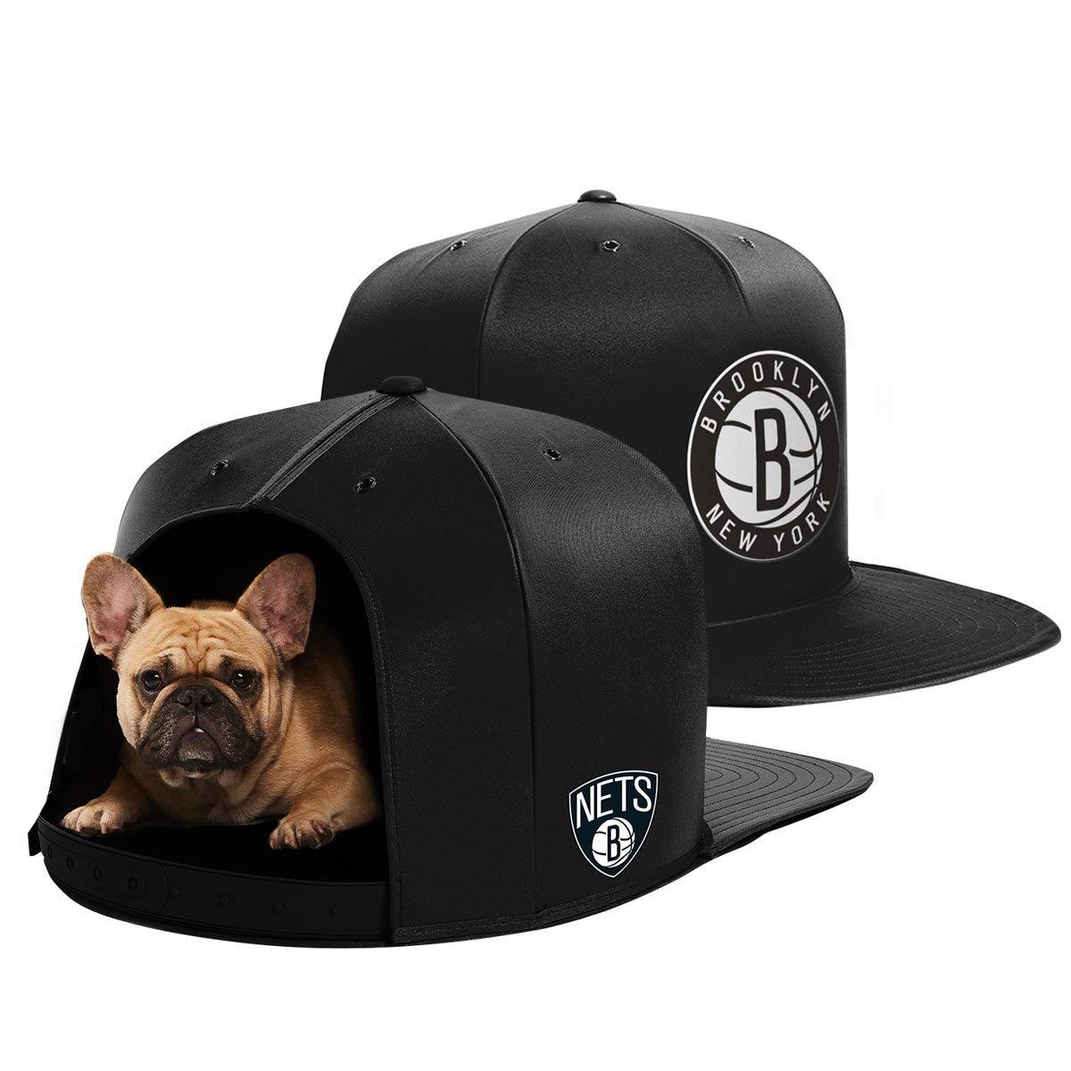NAP CAP NBA Brooklyn Nets Team Indoor Pet Bed, Black (Medium)