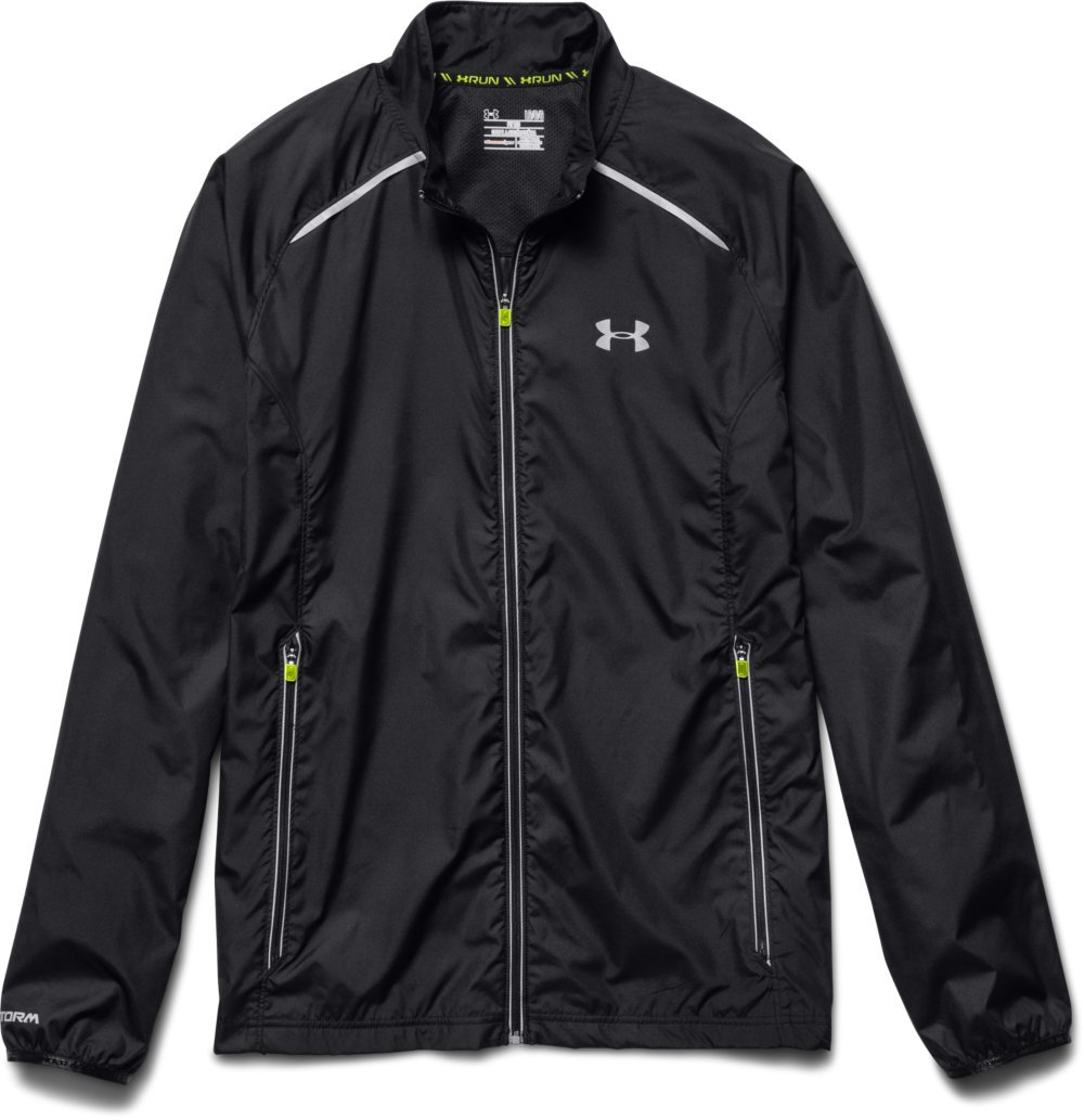 Under Armour Men's Storm Launch Run Jacket, Black (001)/Reflective, Large by Under Armour (Image #7)