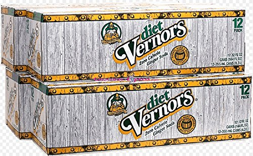 Vernor's Ginger Ale Diet, 12 oz Can (Pack of 12)