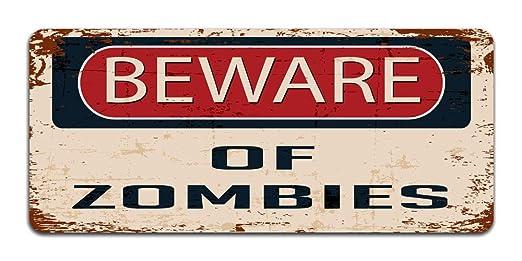 Beware Of Zombies - cartel para puerta, diseño vintage con ...