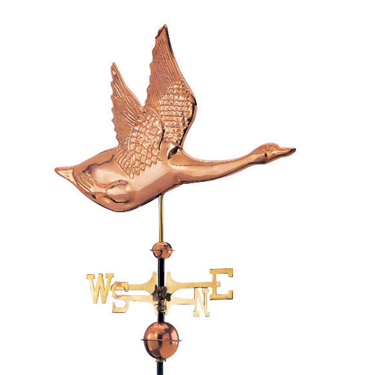 Weathervane Polished Solid Copper Northern Wings | Renovator's Supply