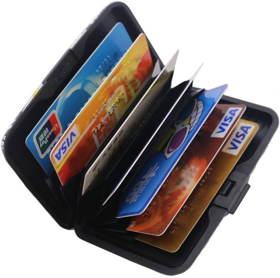 Porte-cartes de cr/édit Sookoo en aluminium bloquant les signaux RFID pour les hommes et les femmes porte-monnaie en aluminium porte-cartes daffaires joli et mince en m/étal Color 19