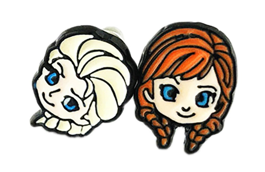 Ana and Elsa Frozen Stud Earrings With Gift Box from Outlander Gear