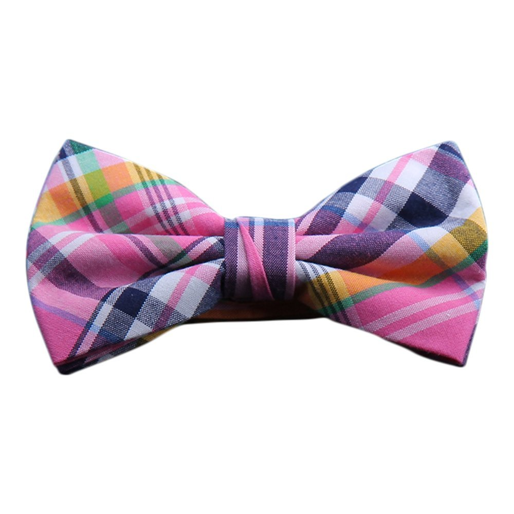 BRIGHT MADRAS PLAID BOW TIES