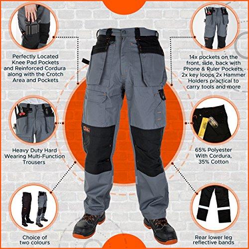 Solide De Hommes Pantalon Pour Travail Black Ultra Avec Hammer pUUdw0q