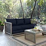 Modway EEI-2923-GRY-NAV Rattan, Sofa, Navy Review