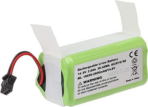 MIRTUX Batería de reemplazo para Conga 990 Excellence, 14,8V 2600mah Li-Ion. Repuesto de Litio Recargable Compatible con Conga excelence 990: Amazon.es: Hogar