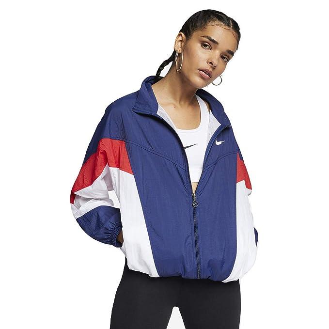 2cf39e658c14 Nike Sportswear Windrunner  Throwback  (Loose Fit) Women s Windbreaker  Jacket (Blue Void
