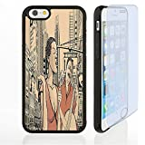Vanfan Custom design Supreme iphone 6/6s 7 case Jazz Music Decor An Jazz Singer With Double-Bass Player in a Street of New York Urban Lifestyle Brown Beige Customized Premium plastic ph(transparent)