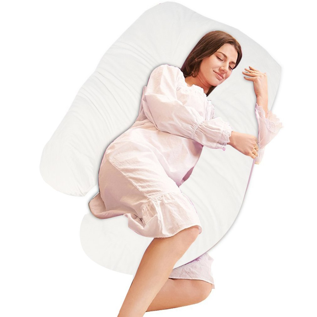 Belovedkai Pregnancy Pillow, Full Body Maternity Pillow U Shaped Pregnant Body Pillow,Maternity Support Cushion for Pregnant and Nursing Women (White)