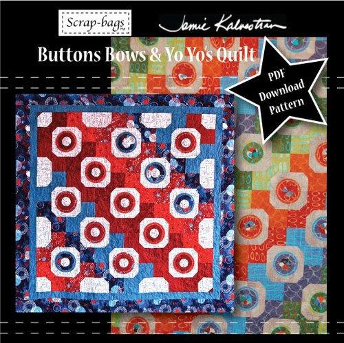 Scrapbag Pattern - Scrap-bags - Buttons Bows & Yo-Yo's Sewing Pattern