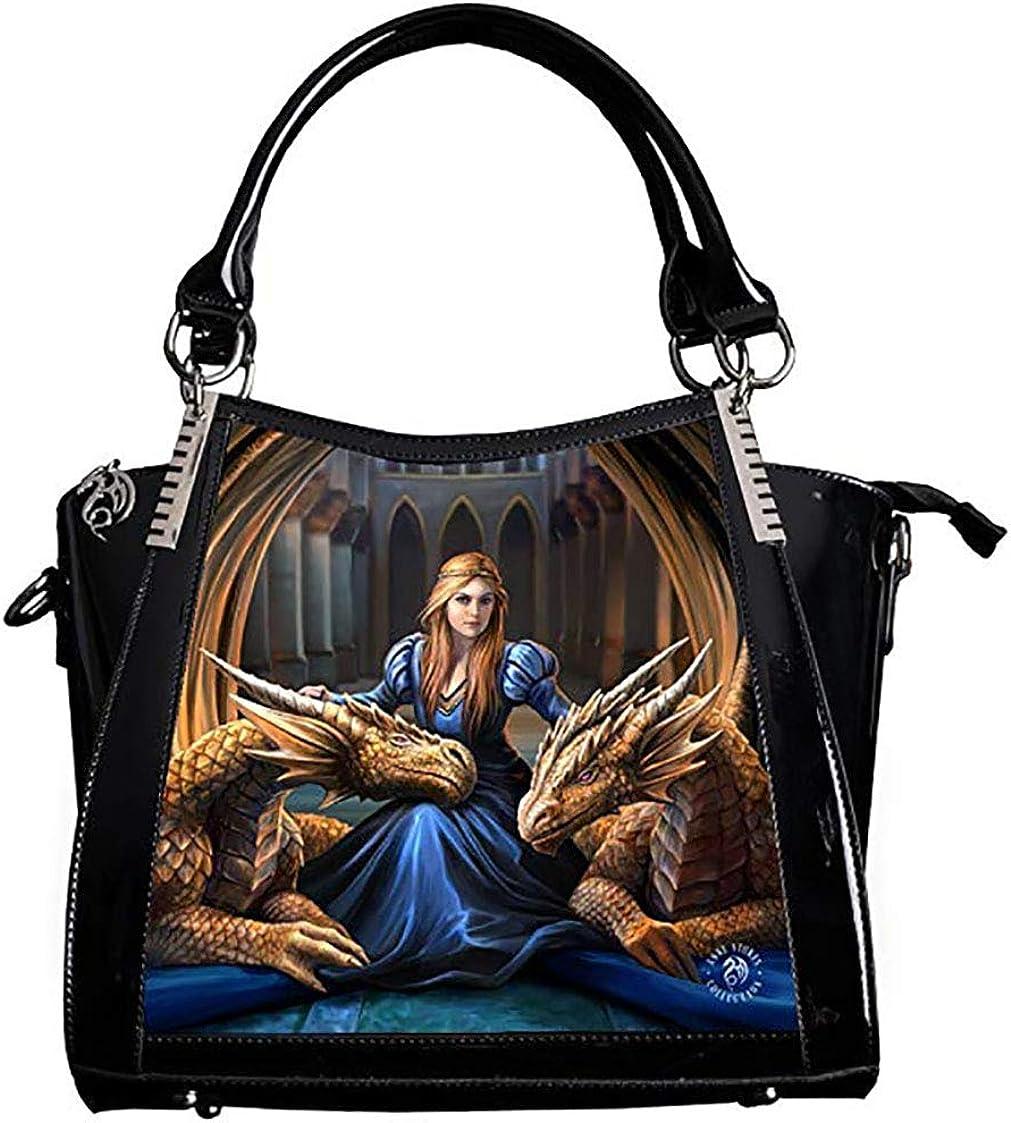 Anne Stokes Womens Handbag Large Capacity Ladies Bag Moving Fantasy Lenticular 3D Art Plus Free Long Shoulder Strap