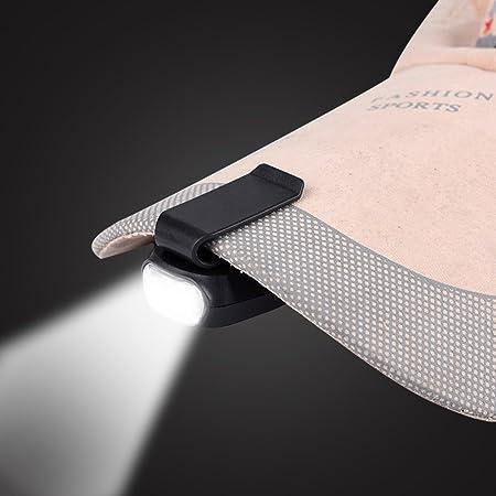 USB Rechargeable Ext/érieure Chapeau Lumi/ère LED Phare pour P/êche de Nuit Main Casquettes de Baseball de Camping Tbest Clip Pince Lampe de Casquette de Baseball Pince Portable