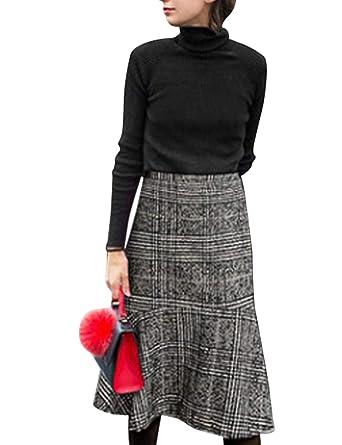 Jueshanzj - Falda de Cola de Pescado para Mujer: Amazon.es: Ropa y ...