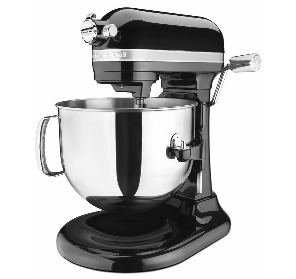 KitchenAid KSM7586POB 7-Quart Pro Line Stand Mixer Onyx Black (Renewed) by KitchenAid