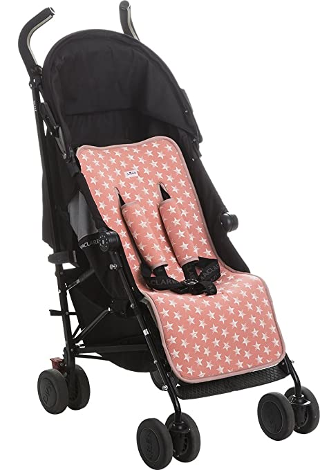 Janabebé Universal Luxury Foam Cover Liner for Stroller (Pink Star)