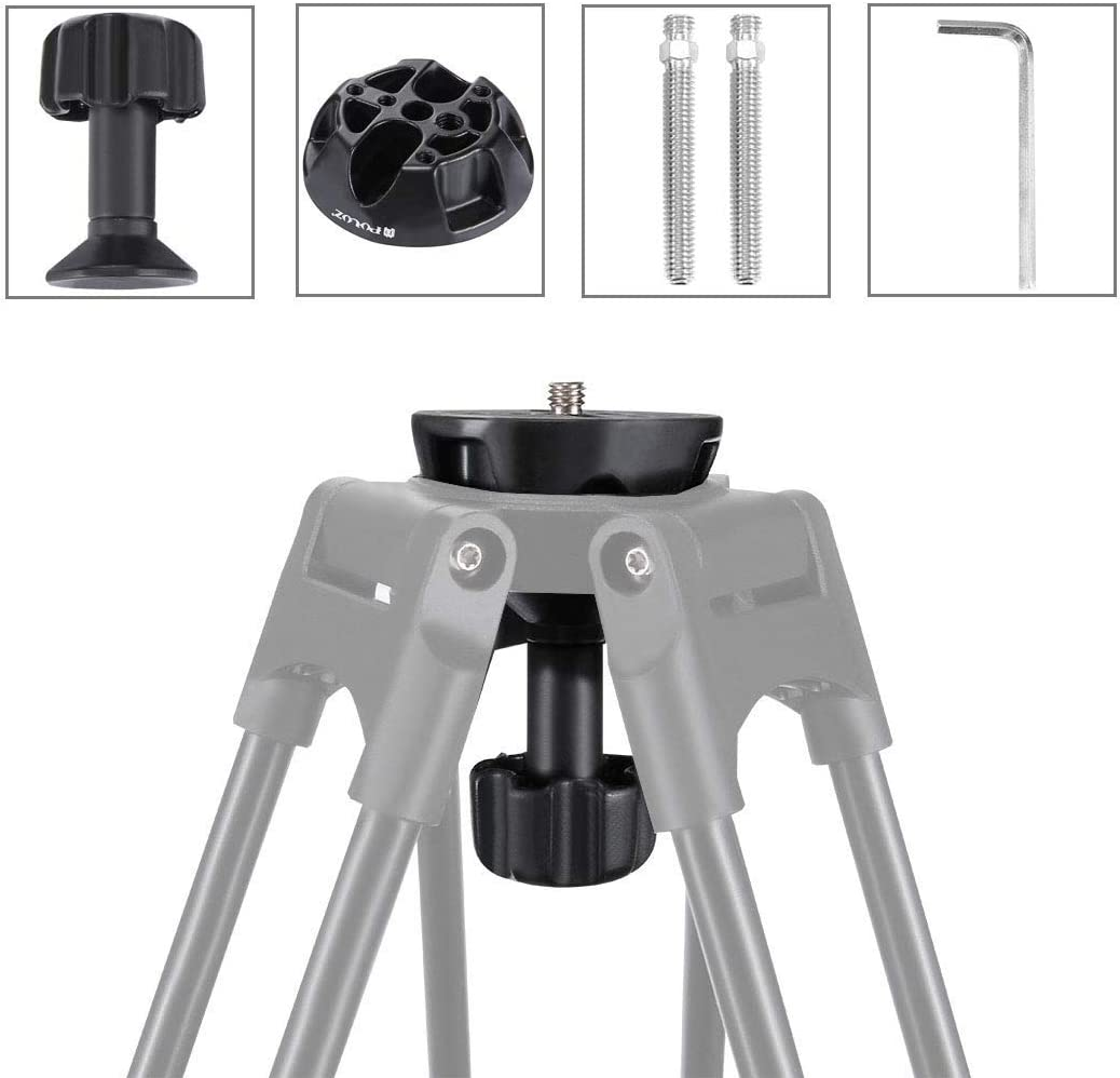 75mm Half Ball Flat to Bowl Adapter for Fluid Head Tripod DSLR Rig Camera Metal Material Durable
