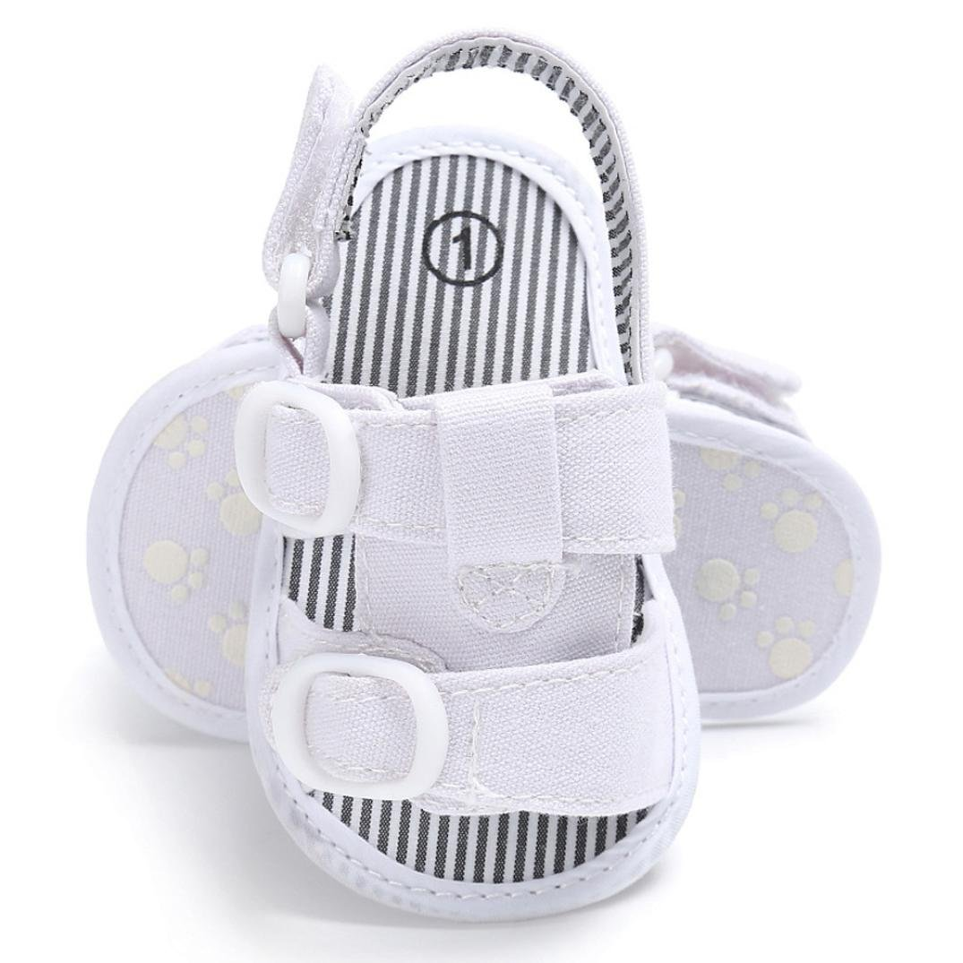 Voberry Newborn Baby Boy Crib First Walkers Summer Sandals Shoes Soft Sole Anti-Slip Jean Toddler Sneakers