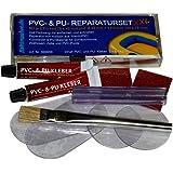 Kit di riparazione XXL per forature di tende, canotti, piscine gonfiabili, tessuti, tende, materassini da campeggio, in PVC & PU (poliuretano)