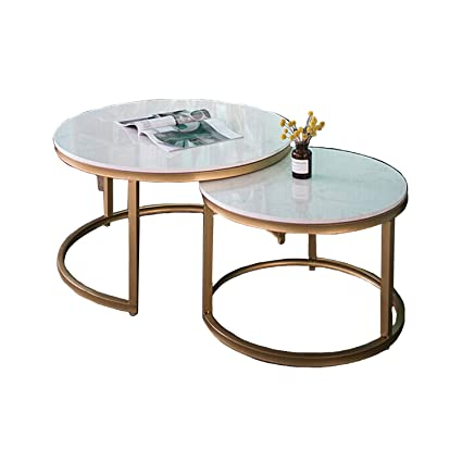 Amazon Com Wsxx Nordic Living Room Creative Marble Round Wrought