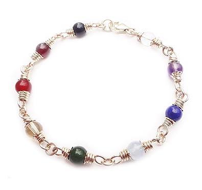 DAMALI Chakra Anklet Gold Filled Gemstone Balancing Healing Crystals Therapy Yoga Reiki Meditation 4lZB7