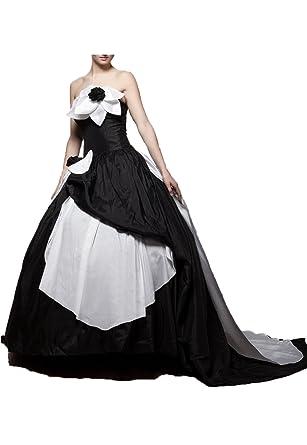 Monkidoll Women\'s Flower Taffeta Black and White Gothic Wedding ...