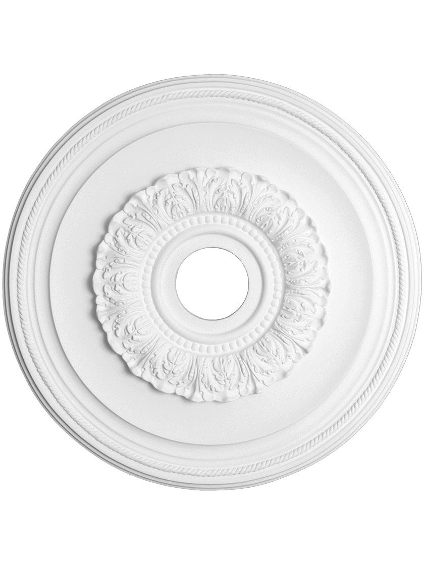 Capital Lighting 79481 Ansley 16-Inch Medallion, Paintable White Finish
