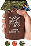 Don't Die In The Woods World's Toughest Ultralight Survival Tent • 2 Person Mylar Emergency Shelter Tube Tent + Paracord…