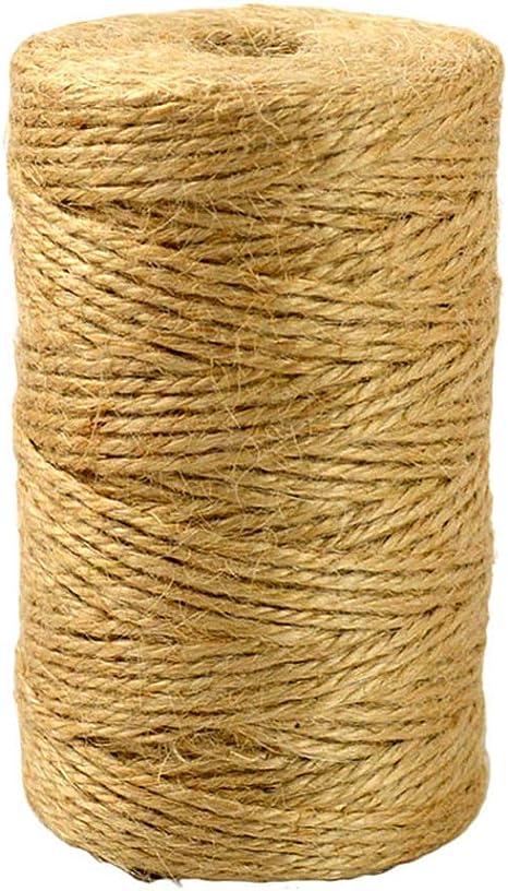 10 m, 10 m Rollo de cinta de yute color amarillo Baoer